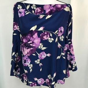 Jennifer & Grace Multicolored Floral Blouse